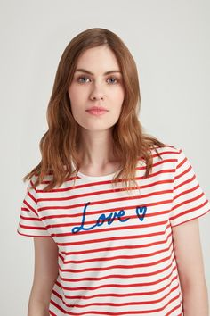 ef157654acf8 This red striped tee is made from 100% organic Fairtrade certified