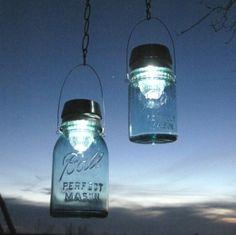 #treasureagain on Etsy, mason jar solar lights. $30 by kimberley