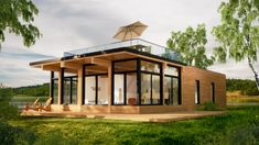 Prefab homes and modular homes in Canada: Bonneville Homes Prefab Modular Homes, Prefab Cabins, Prefabricated Houses, Prefab Homes Canada, Tiny Cabins, Plan Chalet, Prefab Buildings, Casas Containers, Cabin Homes