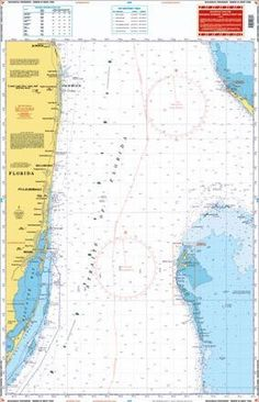 The best chart for crossing to the Bahamas! Details the Florida coast from Jupiter south to Key Largo, and covers the Bimini chain of Islands and the West End of Grand Bahama. Included on this side is