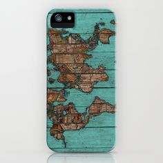 Wood Map iPhone & iPod Case