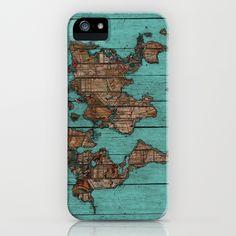 Wood Map iPhone & iPod Case