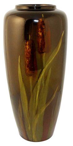 Owens Pottery Utopian Cattail Vase Shape 1257