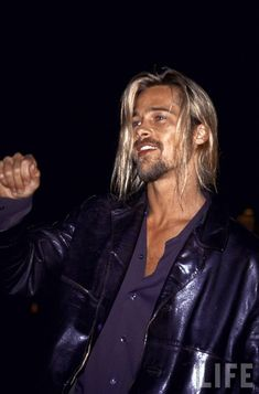 Brad Pitt! This is the HOTTTEST look for him! in my eyes! he is the best looking MAN ever made!!!:) siigh!! ;)