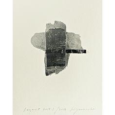 Hideaki Yamanobe  Fragmente 2015-1, 2015  Papier-Collage und Acryl auf Papier, 29 x 22,5 cm