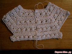 Maria De Los Angeles Pereira IG ~ ~ crochet yoke for girl's dress, step by step photo tutorial kids dress, Discover thousands of images aboutIrish lace, crochet, crochet pThis Pin was discovered by JesVeronica crochet y tricot. Col Crochet, Gilet Crochet, Crochet Cardigan Pattern, Crochet Jacket, Crochet Stitches, Crochet Patterns, Bolero Crochet, Crochet Blouse, Crochet Round