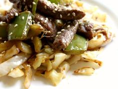 Spicy Low Carb Beef Lo Mein via @Marye at Restless Chipotle