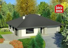 Projekt domu: Dom przy Słonecznej 7 Bungalow House Design, Future House, Gazebo, House Plans, New Homes, Outdoor Structures, Cabin, How To Plan, House Styles