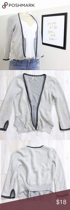 Free People Cardigan ⭐️ Gorgeous free People Cardigan with bead embellishments next to Zipper, is missing one of the beads but is unnoticeable, 100% cotton, EUC, size small ⭐️ Free People Sweaters Cardigans