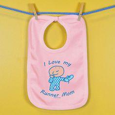 Baby Bib I Love My Runner Mom | Running Baby Bibs | Running Baby Clothing