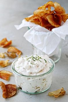 This is a lighter French Onion Chip Dip - and you'll be glad, cuz you won't want to stop at one chip! Created by @Jamie Wise {My Baking Addiction}