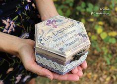 Wooden box, provence style, decoupage box, lavender, lavender box, decoupage, rustic
