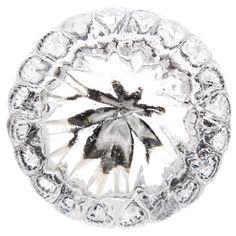 Clear Beaded Edge Glass Knob
