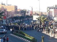 Guleimim(sur de Marruecos) ,08/05/16 (SPS) - Las fuerzas de represión marroquíes intervinieron violentamente contra manifestantes saharauis en la ciudad sureña de Marruecos, Guleimim.