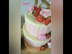 Dort s růžemi / Cake with roses Rose Cake, The Creator, Roses, Desserts, Food, Tailgate Desserts, Deserts, Pink, Rose