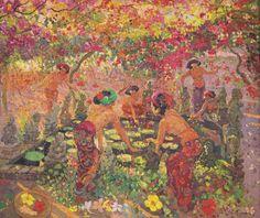 Adrien Jean Le Mayeur De Merprés - Around the Lotus Pond sold by Christie's for USD 1,317,867.