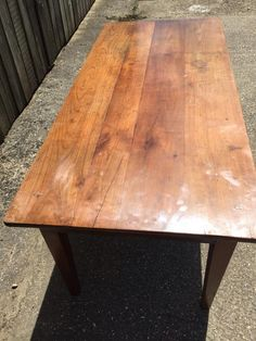 Antique Cherry French Farmhouse Table With Bread Slide. Sits On Lovely  Frame With Tapered Legs