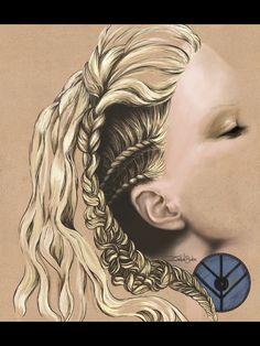Lagertha hair art
