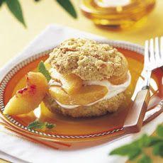 Peaches and Cream Shortcakes with Cornmeal-Orange Biscuits II Recipe