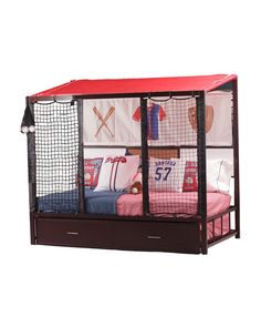 Home Run Dugout Bed with Trundle baseball bedroom decorating ideas - baseball bedroom decor - boys baseball theme bedrooms - Baseball Room Decor - baseball wall murals - baseball wall decals Powell Furniture, Bedroom Furniture For Sale, Childrens Bedroom Furniture, Kids Furniture, Baseball Bedroom Decor, Boys Bedroom Decor, Bedroom Themes, Bedroom Ideas, Baseball Furniture