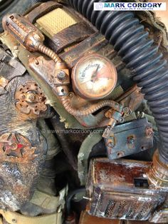Post Apocalyptic Mad Max style LARP costume - rebreather detail by Mark Cordory Creations www.markcordory.com