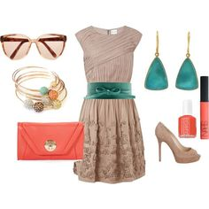 coral and teal fashion  | Coral and Teal, yo.