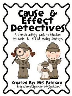 Cause and Effect lessons...Freebie!