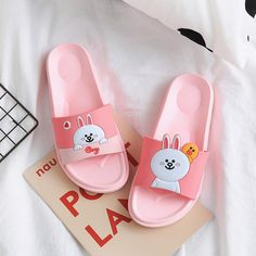 Cute Cony and Brown Slippers Cute Slippers, Slippers For Girls, Baby Slippers, Leather Slippers, Womens Slippers, Bedroom Slippers, Pink Nike Shoes, Pink Nikes, Gifts