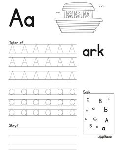 Grade R Worksheets Free Printable Teachers Grade R Worksheets, Free Printable Worksheets, Alphabet Worksheets, Worksheets For Kids, Alphabet Activities, Printables, Printable Alphabet Letters, Alphabet For Kids, Afrikaans Language