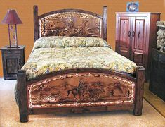 McMillan's Western Furniture | Ropers Bed, back-lit