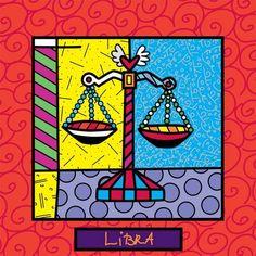 Romero Britto's art. Libra
