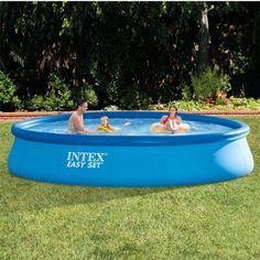 Swimming pool aufblasbar  Pools #INTEX #28122SZ Intex 28122 Aufblasbar Rund Blau ...