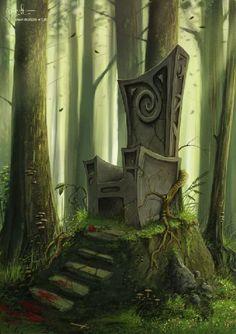 Thron im Wald