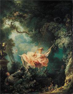 The Swing, 1767, Fragonard (Rococo) - my favorite day in art history
