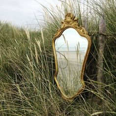 French Vintage Wood Gold Gilt Wall Mirror #1 by VintageThingsByMarie on Etsy