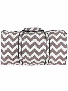 Gray Chevron Duffle Bag