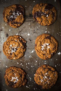 Chewy Dark Chocolate Chunk Cookies / Slim Palate #paleo - I've made these twice now, they're the BEST.
