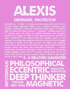 ALEXIS Personalized Name Print / Typography Print / Detailed