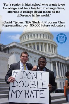 Share your student loan debt story with Education Votes and tell Congress, don't double the student loan interest rate! http://educationvotes.nea.org/2013/05/15/share-your-story-degrees-not-debt/