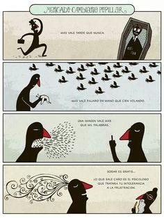 """Refranes que """"valen mucho"""" (sobre todo si los ilustra Alberto Montt)."""