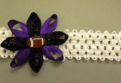 Baltimore Ravens Baby Headband by DelightfulGoods on Etsy, $6.00