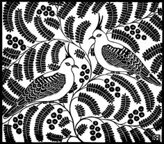 Kate Hudson - Printmaker  Award winning artistKate Hudson will be the first 'Featured Artist' to exhibit at Tussock Upstairs this year.  Kate is an Australian artist specializing in limited edition linocut prints in black & white and colour. She uses native birds, flowers and domestic items to make her highly patterned and decorative prints.  Kate studied Textile Design