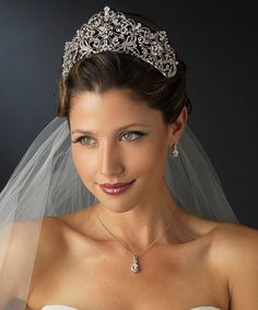 """Fabulous accessories for your wedding- like this Regal 2 3/4"""" High Rhinestone Wedding or Quinceanera Tiara - sale!  - Affordable Elegance Bridal -"""