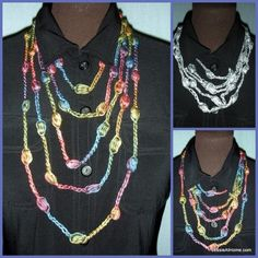 Puff stitch necklace (free pattern) ~ Maybe add actual beads in the puff