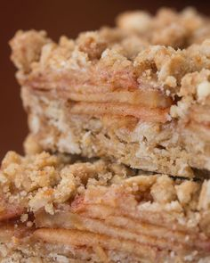 Apple Cinnamon Oatmeal Bars Recipe by Tasty Apple Recipes, Fall Recipes, Cookie Recipes, Oatmeal Recipes, Fall Dessert Recipes, Fall Desserts, Apple Cinnamon Oatmeal, Cinnamon Apples, Cinnamon Bars Recipe