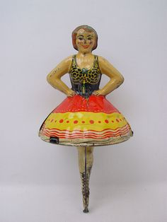 Vintage Marx Ballerina Spinning Top Tin Toy Works   eBay