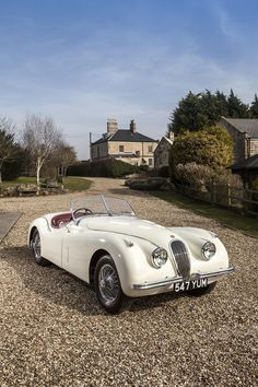"As the license plate says: ""Yum""! Indeed! - 1952 XK 120 roadster"
