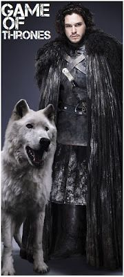 Jon Snow and Ghost. I hope George RR martin doesn't kill him off, that would make me really sad!