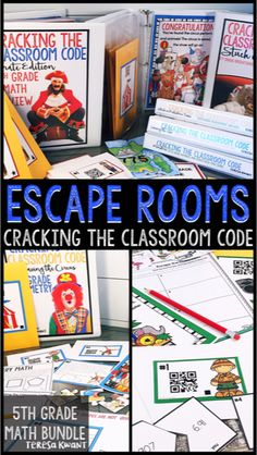 Cracking the Classroom Code™ Grade Math Bundle Escape Room Games 5th Grade Classroom, School Classroom, Classroom Ideas, Classroom Games, Future Classroom, Escape Room, Fifth Grade Math, Fourth Grade, Third Grade