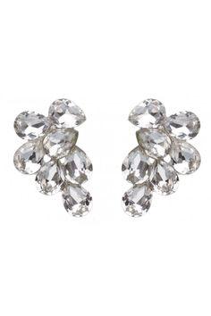 Tear Stone Cluster Earrings   Colette